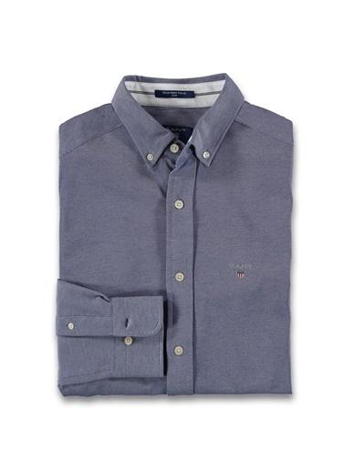 Gant Düz Slim Gömlek Lacivert